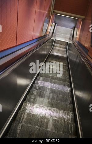 An escalator Sweden. - Stock Photo