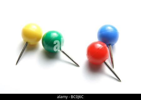 Round Head Push Pins - Stock Photo