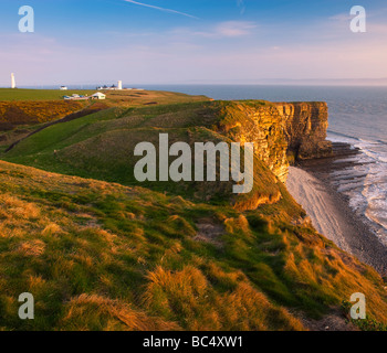 Nash Point nr St Donats Glamorgan Wales Heritage coast - Stockfoto