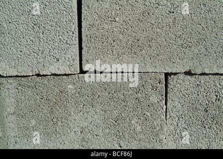 Stacked concrete blocks at a construction site - Stock Photo