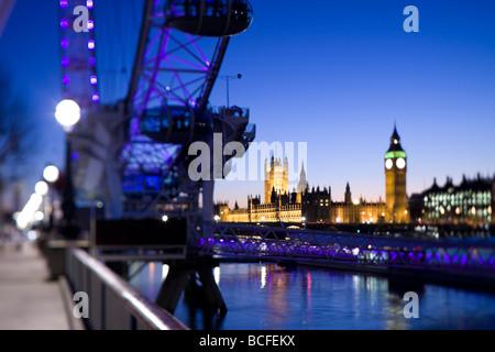 Big Ben, Houses of Parliament, London, England - Stock Photo