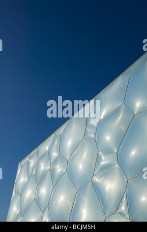 China, Beijing, National Aquatics Center Exterior,  Swimming Venue for the 2008 Summer Olympics - Stock Photo