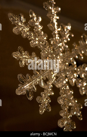 Close up of a snowflake ornament - Stock Photo