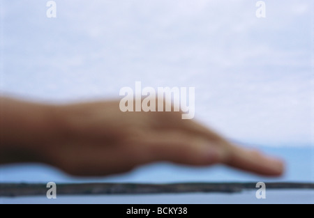 Person's hand, blurred - Stock Photo