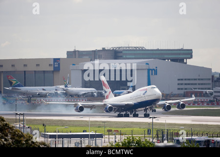 Heathrow Airport London England - Stock Photo
