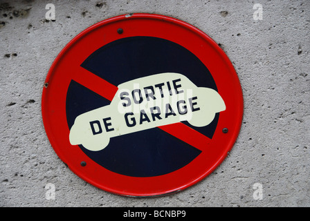 no parking sign Paris France - Stock Photo