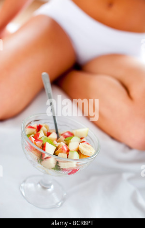 Close up of fruit in dish - Stock Photo