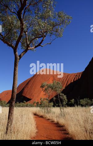 Uluru walking trail Central Australia - Stock Photo