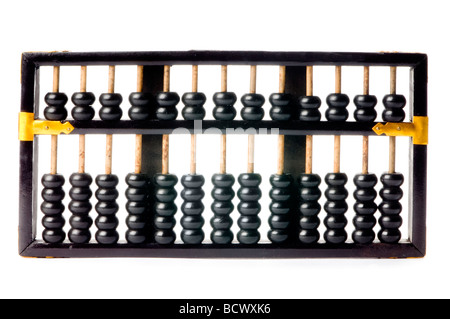 black abacus on white - Stock Photo