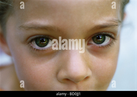 Child's face, close-up - Stock Photo