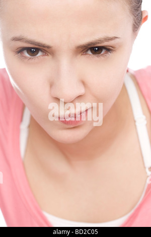 Portrait of angry woman - Stockfoto