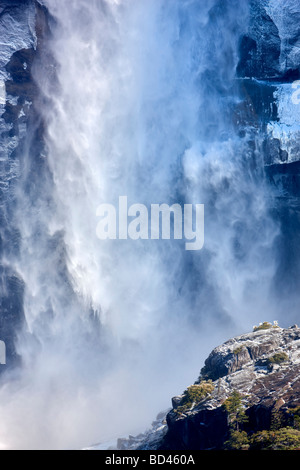 Close up of Upper Yosemite Falls Yosemite National Park California - Stock Photo