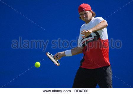 Robert Kendrick in action - Stock Photo