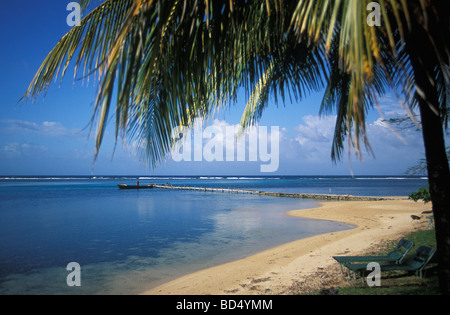 Navy Island, former property of Errol Flynn in Port Antonio in Jamaica - Stock Photo