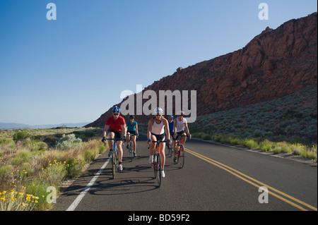 Bikers on the road - Stockfoto