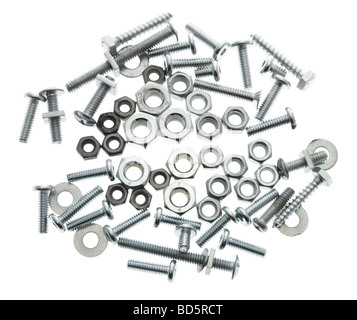 Spanners with Nuts and Bolts - Stock Photo