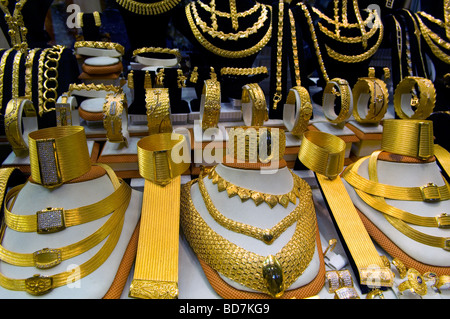Grand Bazaar Gold Bazaar sale of jewelry Turkey Istanbul Stock