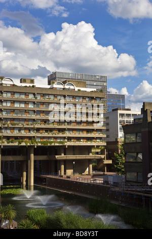 The Barbican Terrace London England - Stock Photo