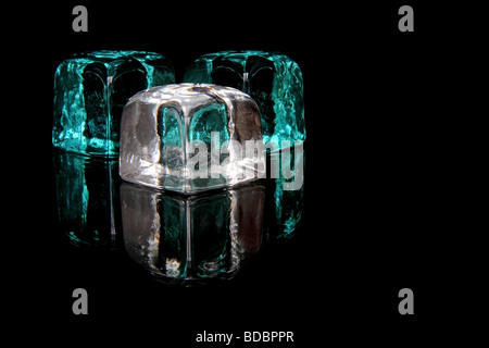 glass cubes in black - Stock Photo