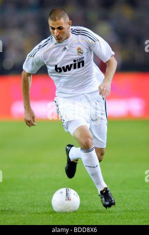 Karim Benzema (France), player of spanish soccer club Real Madrid, during a match vs. Borussia Dortmund. - Stockfoto