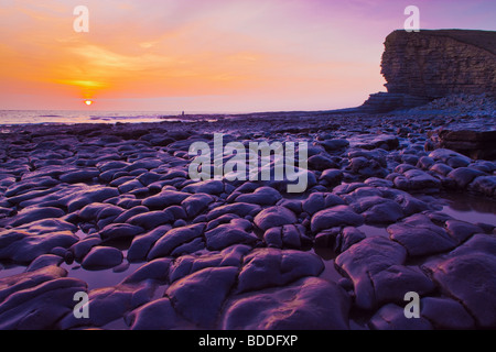 Nash Point nr St Donats Glamorgan Wales (Heritage coast) - Stockfoto
