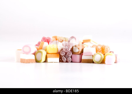 Dolly Mixture sweets - Stock Photo