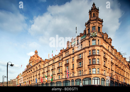 Harrods The Luxury Department Store On Brompton Road In