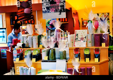 Paris, France, Food Shopping, Interior of French Chocolate Shop, 'Cacao & Chocolat', Boutique - Stock Photo