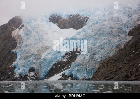 Northwestern Glacier, Northwestern Fjord, Kenai Fjords National Park, Alaska. - Stock Photo