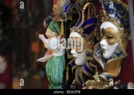 Mardi gras masks for sale in Venice, Italy - Stock Photo