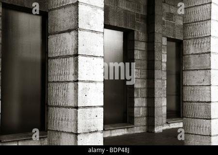 Concrete blocks in a building - Stock Photo