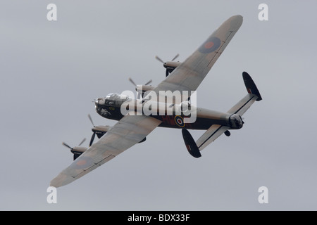 Avro 683 lancaster B1 PA474 in Flight at Duxford, Cambridgeshire, England, United Kingdom - Stock Photo