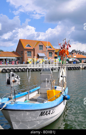 Fishing boat in the Baltic Sea port Maasholm, Schlei estuary, Schleswig-Holstein, northern Germany, Germany, Europe - Stock Photo
