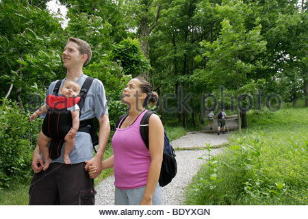 Group Of People Hiking On Appalachian Trail In