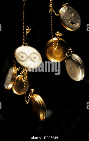 Antique Watches & Clocks displayed at the L.A Mayer Museum of  Islamic Art in west Jerusalem Israel - Stock Photo