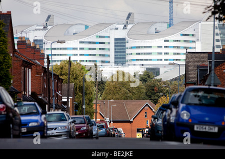 A view of the new Queen Elizabeth Super Hospital which is due to open in 2010, Birmingham, England, UK - Stockfoto