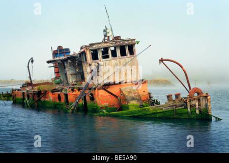 Shipwreck in Gold Beach, Oregon - Stock Photo
