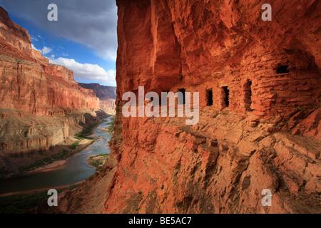 Ancient Native American Anasazi Granary Ruins In Grand
