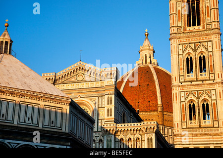 Evening at the Duomo in Florence Tuscany Italy - Stock Photo