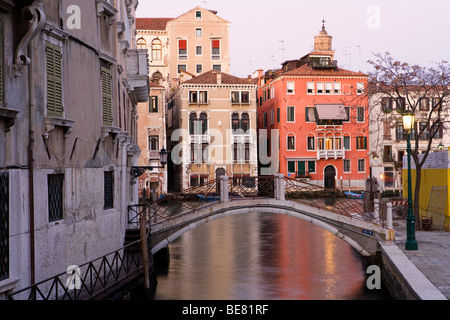 Palazzi at the Canal Grande, Venice, Italy, Europe - Stock Photo