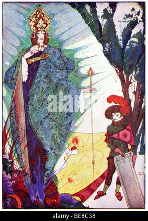 Harry Clarke Art Nouveau Print Illustration Fairy Tales from  Hans  Andersen 1st Coker & Co 1919THE SNOW QUEEN FOR - Stock Photo