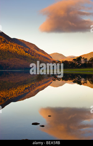 Lake Buttermere Lake District National Park Cumbria England - Stock Photo