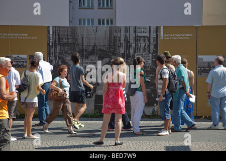 Open air exhibition about the history of the Berlin Wall, Berlin, Germany - Stockfoto
