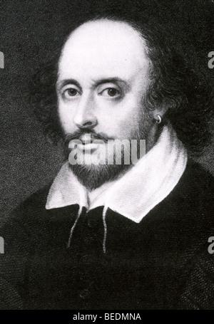 WILLIAM SHAKESPEARE  - English  dramatist 1564-1616 - Stock Photo