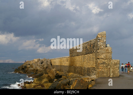 part of old harbour in chania, crete, greece - Stock Photo