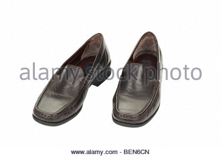 Brown women's shoes - Stock Photo