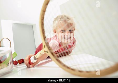 little girl having fun - Stock Photo