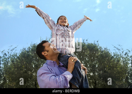 Father and son having fun - Stock Photo
