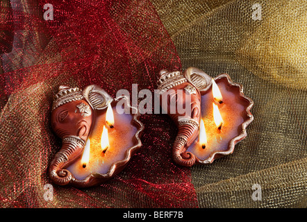Decorative diyas - Stock Photo