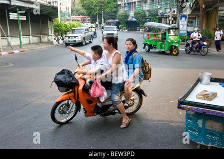 Street Scene in Bangkok, Thailand. - Stock Photo